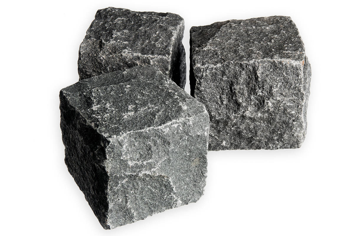 Noppakivi, musta 10x10x10 cm  Kivitori verkkokaupasta
