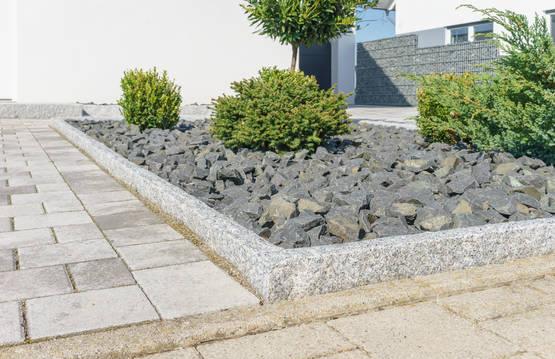 Graniittireunakivi r10 harmaa 100 115x25x10 cm kivitori verkkokauppa - Moderner steingarten ...